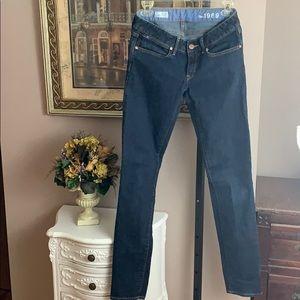 Gap 1969 Always Skinny Dark Jeans Sz 27L Like New